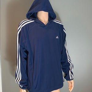 Adidas Mens Navy Fleece Hoodie SZ.XL